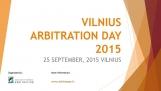 Tarptautinė konferencija VILNIUS ARBITRATION DAY 2015