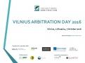 VILNIUS ARBITRATION DAY 2016   7 October 2016