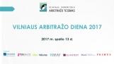 Vilniaus Arbitražo Diena 2017 | 2017 m. spalio 13 d.