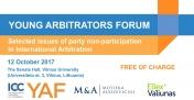 Jaunųjų arbitrų forumo seminaras | 2017 m. spalio 12 d.