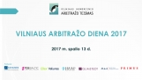 VILNIAUS ARBITRAŽO DIENA 2017